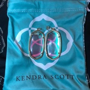 Kendra Scott Iridescent Glass Danielle Earrings